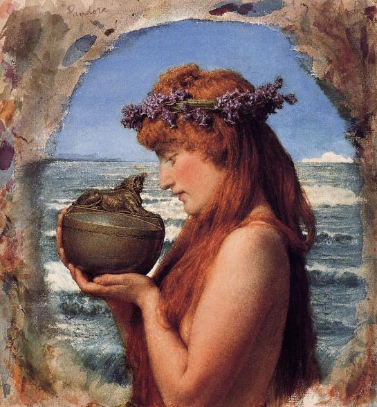 Pandora, de Sir Lawrence Alma-Tadema (1836-1912)