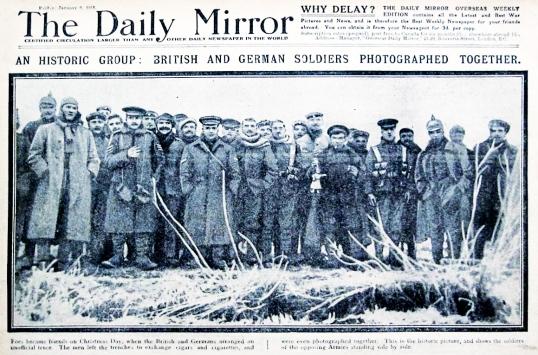Tregua 1914 IIGuerra Mundial en el DAILY MIRROR
