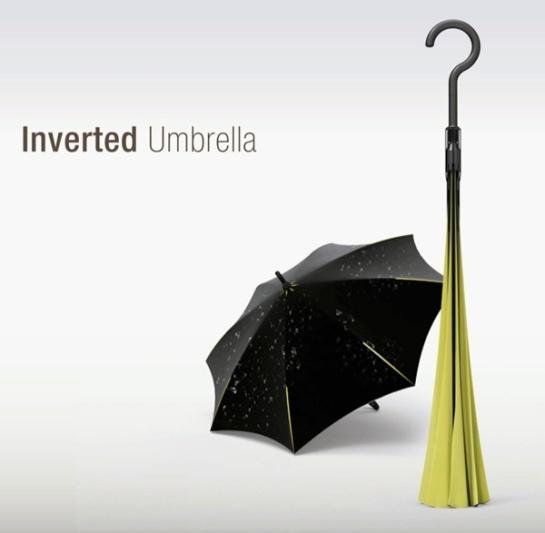 El paraguas invertido
