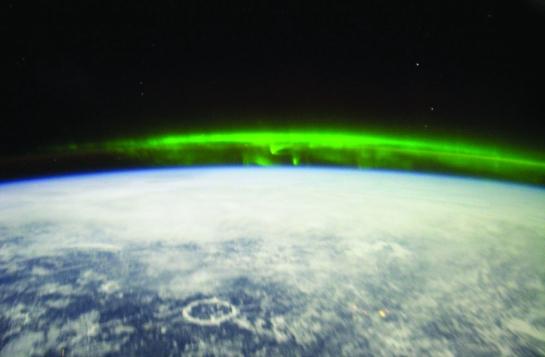 Aurora Boreal vista desde la ISS (Estación Espacial Internacional)