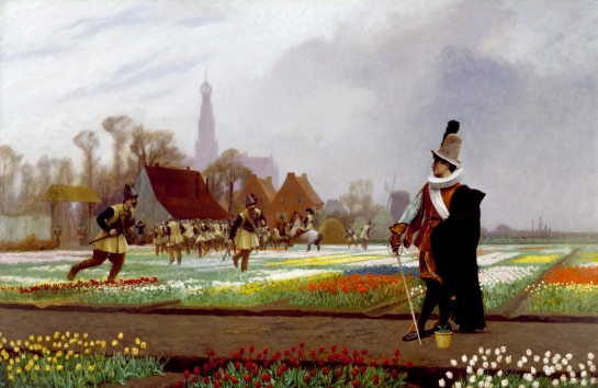 La locura de los tulipanes - Jean Gerome Leon (1882)