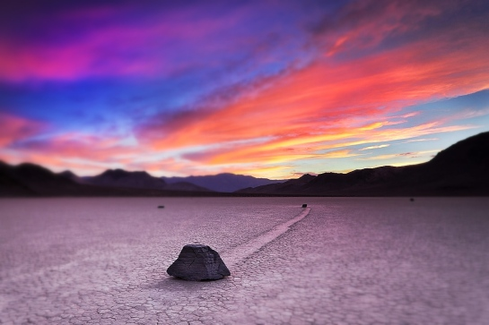 Racetrack Playa en el parque nacioinal Death Valley