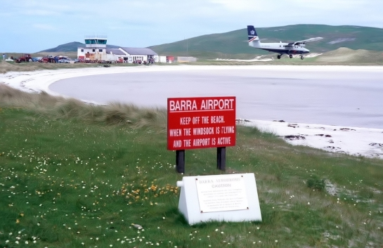 Barra Island airport-Hebridas