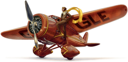 Google Doodle dedicado a Amelia Earhart el 24 de Julio de 2012