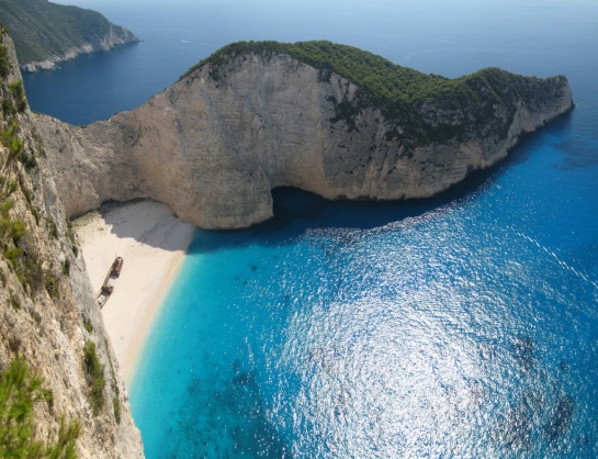 Navagio Beach, Zakynthos, Grecia