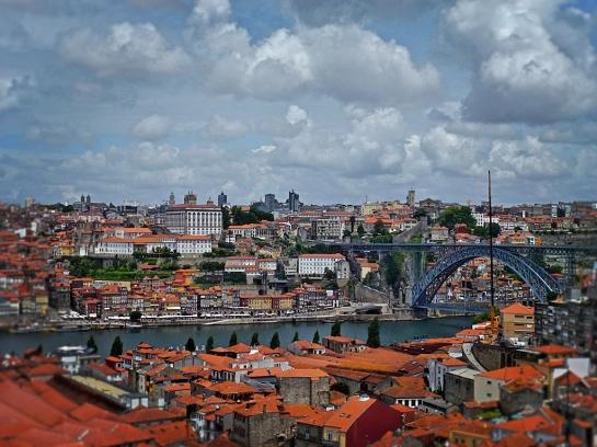 Vista de Porto desde la terraza del Hotel Yeatman