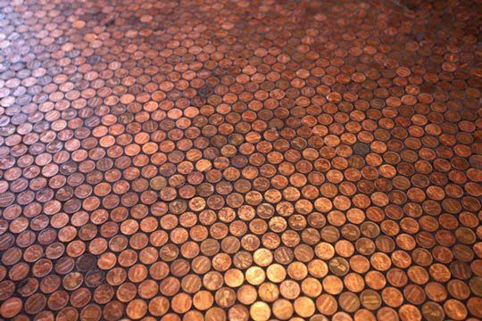 Suelo de centavos