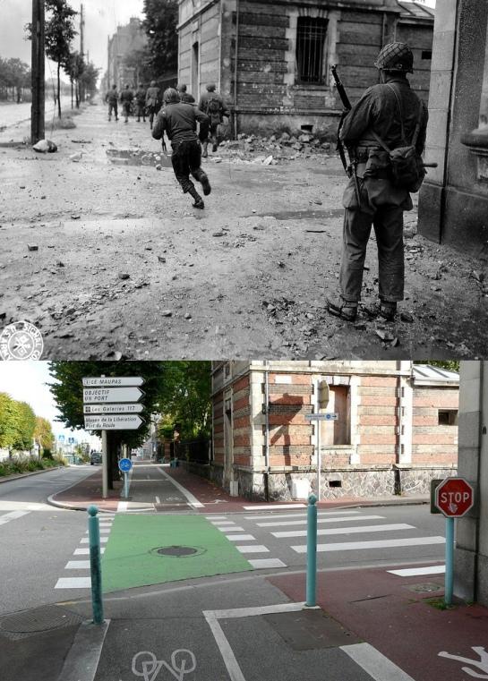 Cherburgo antes y después