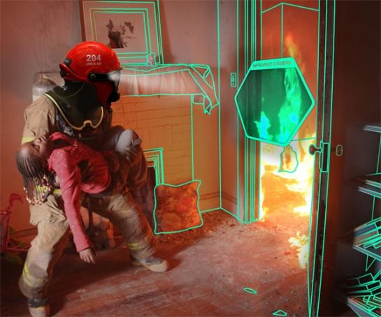 C-Thru. El casco de los bomberos del futuro