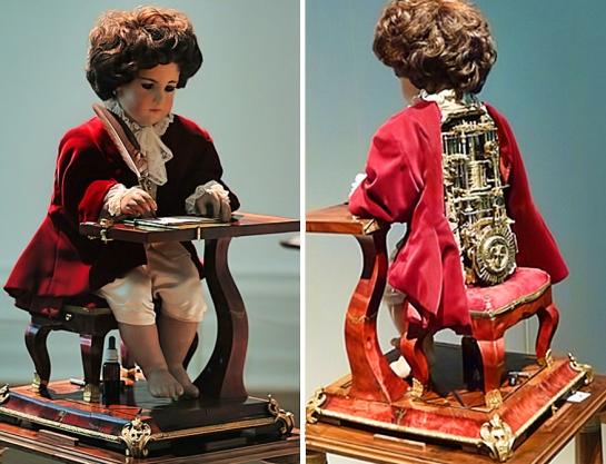 El autómata escritor del siglo XVIII. El escritor de Jaquet-Droz