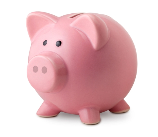 Piggy bank. Cerdito banco