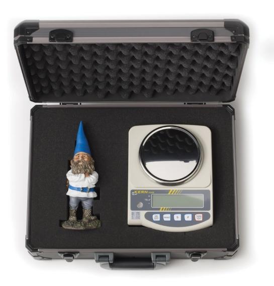 El kit de medida de alta precisión remitido por la compañía Kern & Sohn durante la realización de su experimento de marketing.