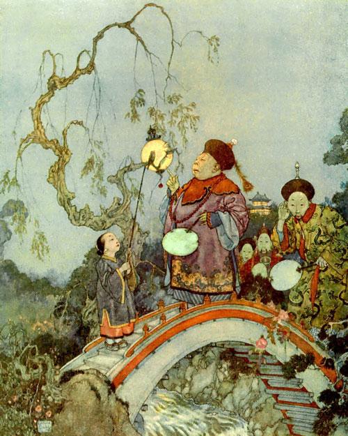 El Ruiseñor, ilustrado por Edmund Dulac
