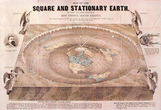 Me gusta más la teoría de la tierra con forma de lenticular. O cúbica. Tampoco estaría mal.